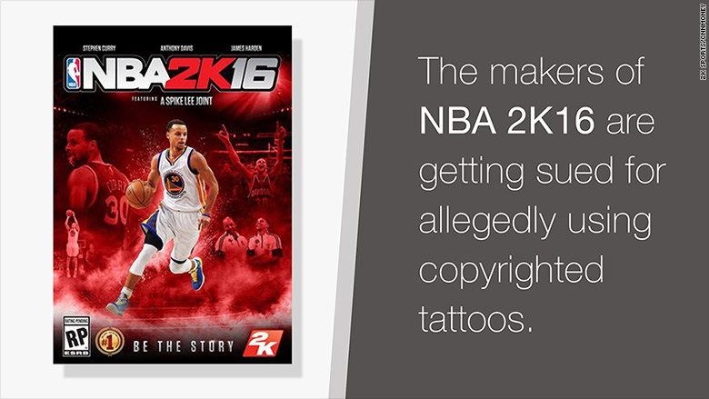 nba 2k16 copyrighted tattoos