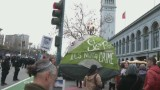 Protesters condemn treatment of SF homeless before Super Bowl