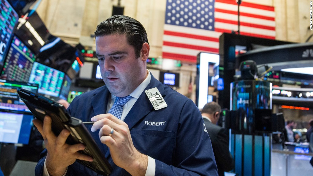 Huge sell-off, Dow still closes at record