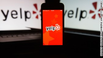 yelp app screen