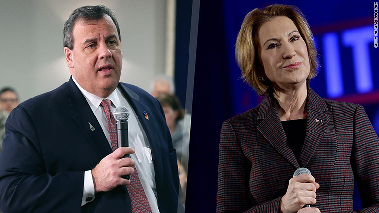 chris christie carly fiorina cbs