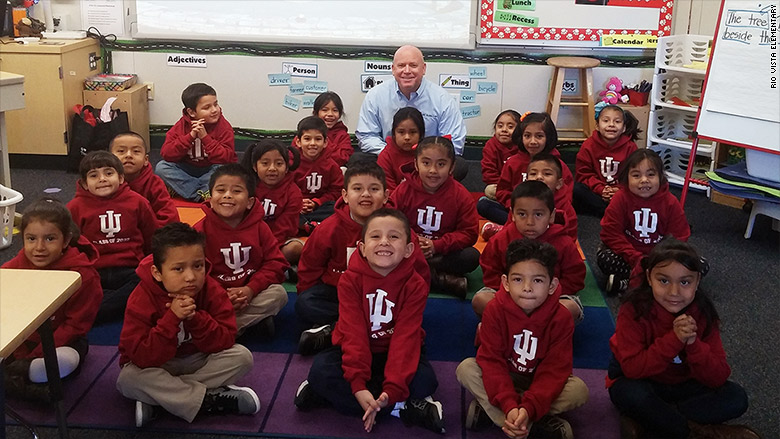 A stranger pledged $1 million to put these kindergarteners through college