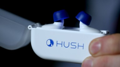 High-tech earplugs put a noise machine in your ears