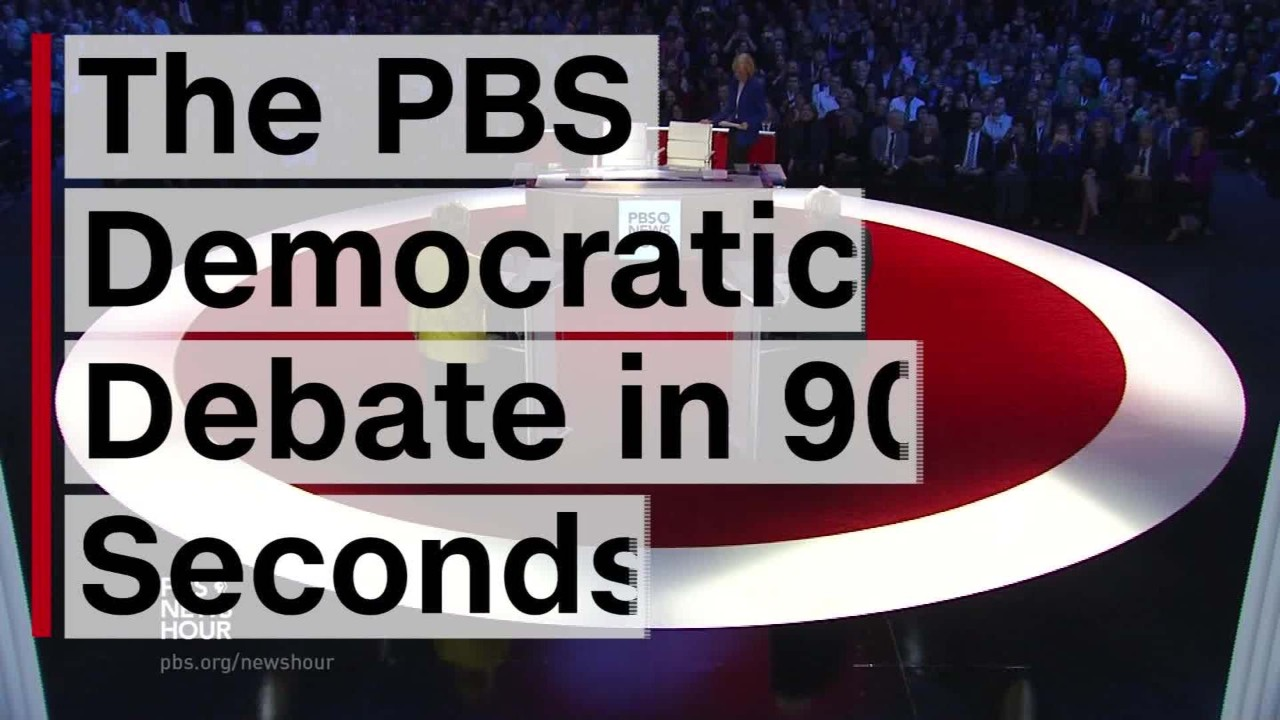 nightly business report january 11 2016 democratic debate