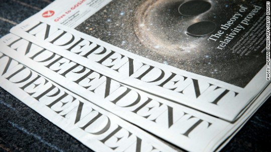 'The Independent' is killing its print edition