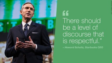 Starbucks CEO Howard Schultz blasts 'bombastic' American politics