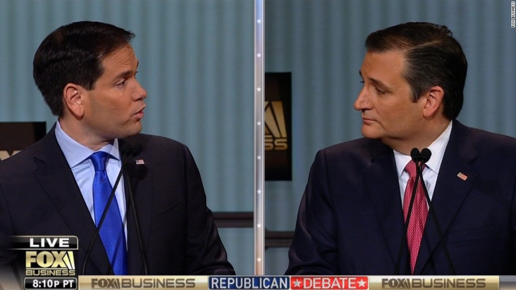 Rubio, Cruz clash over proposed VAT tax