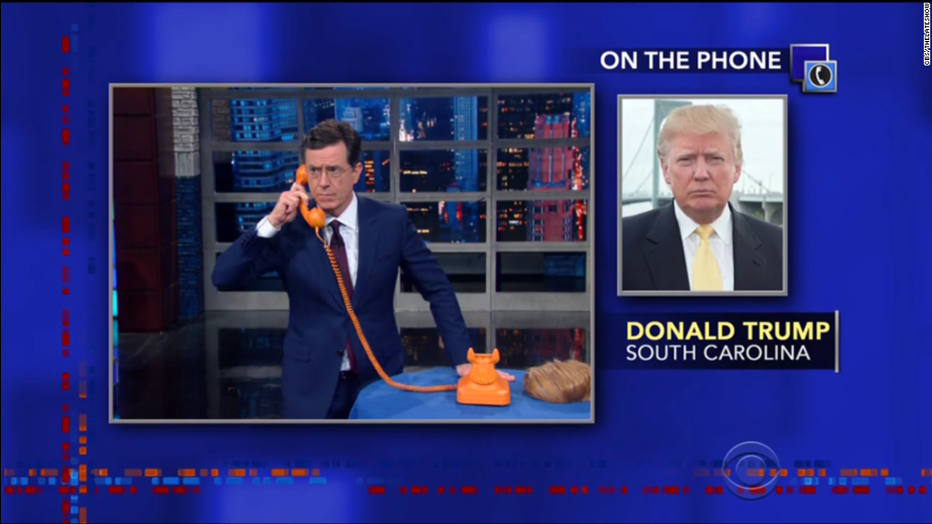 Donald Trump calls Stephen Colbert on 'Late Show'