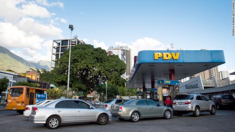 venezuela gas station