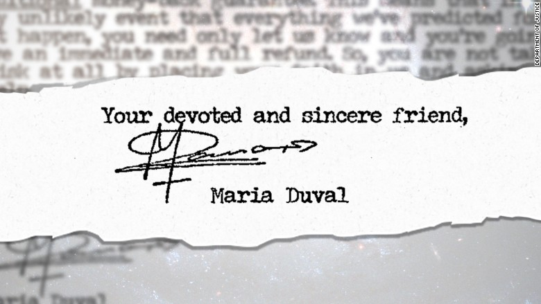 maria duval signature close up