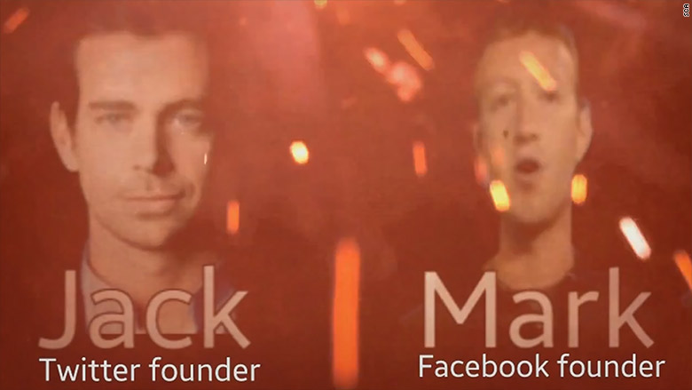 ISIS supporter video mark zuckerberg jack dorsey