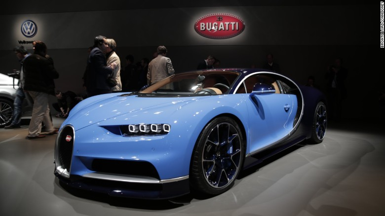 'bugatti chiron geneva front 3/4 hero' from the web at 'http://i2.cdn.turner.com/money/dam/assets/160301102717-bugatti-chiron-geneva-front-3-4-hero-780x439.jpg'