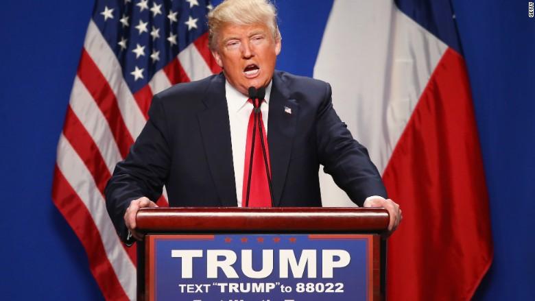 Donald Trump campaigning