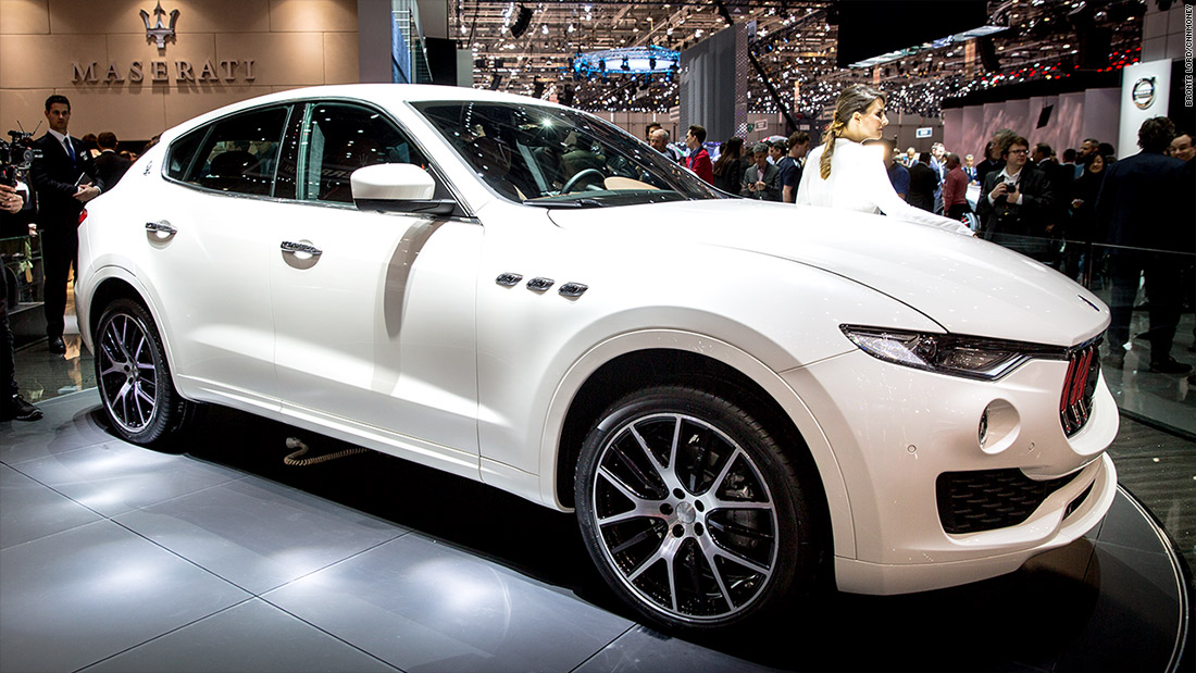 maserati levante suv cool cars from the 2016 geneva motor show cnnmoney. Black Bedroom Furniture Sets. Home Design Ideas