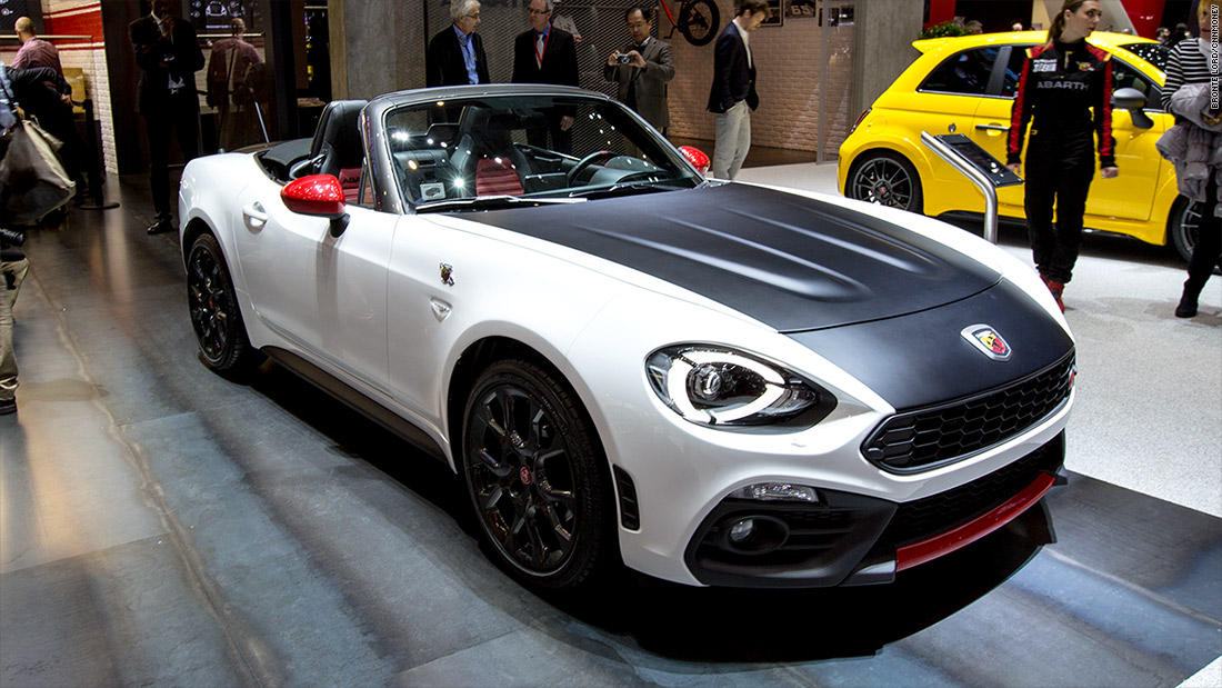 Fiat abarth 124 spider cool cars from the 2016 geneva for Fiat 124 spider motor
