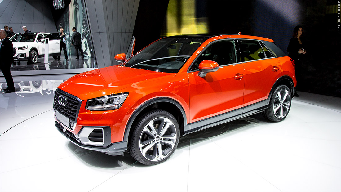 audi q2 cool cars from the 2016 geneva motor show cnnmoney. Black Bedroom Furniture Sets. Home Design Ideas