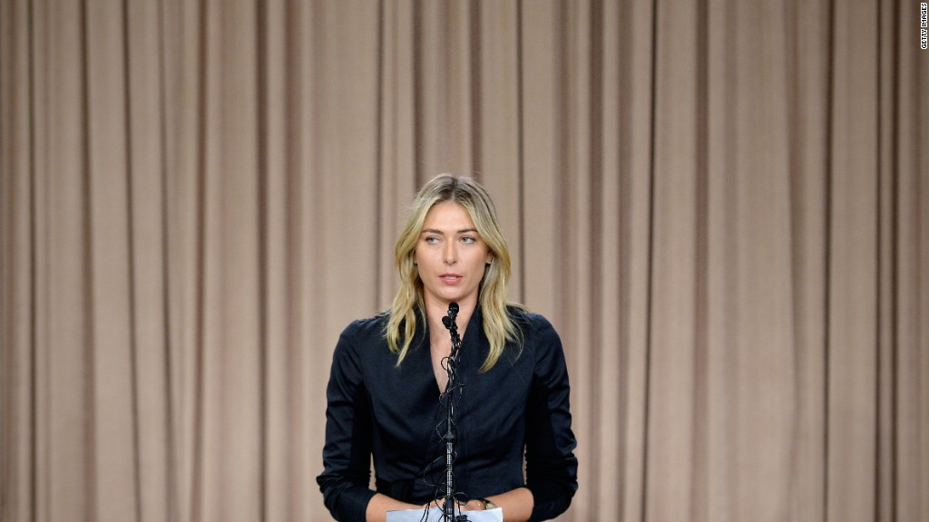 Maria Sharapova admits to failed drug test