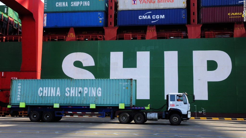 China's slowdown hits shipping