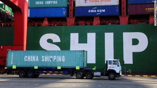 Chinese exports fall as Beijing braces for Trump