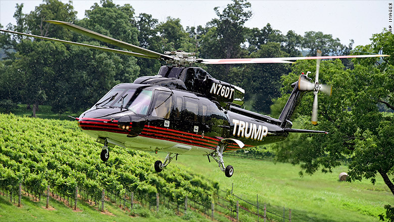 trump wine helicopter