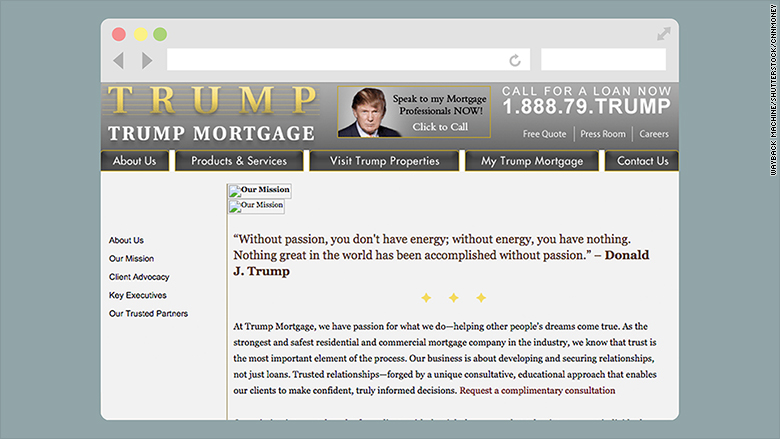 trump mortgage website