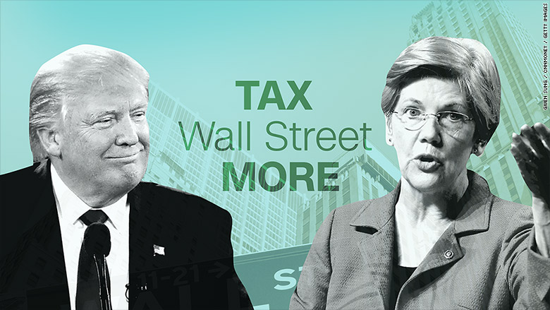 warren trump taxing wall street