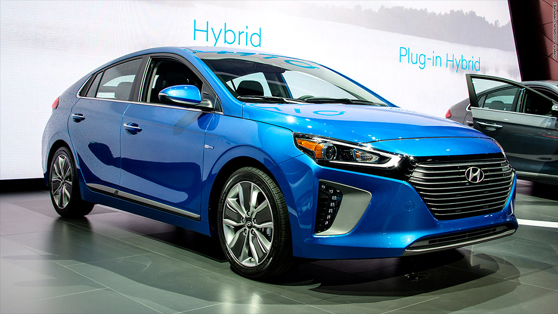 New Electric Cars 2018 >> Hyundai Ioniq - Cool cars from the New York Auto Show - CNNMoney