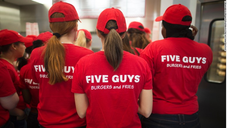 five guys burgers london
