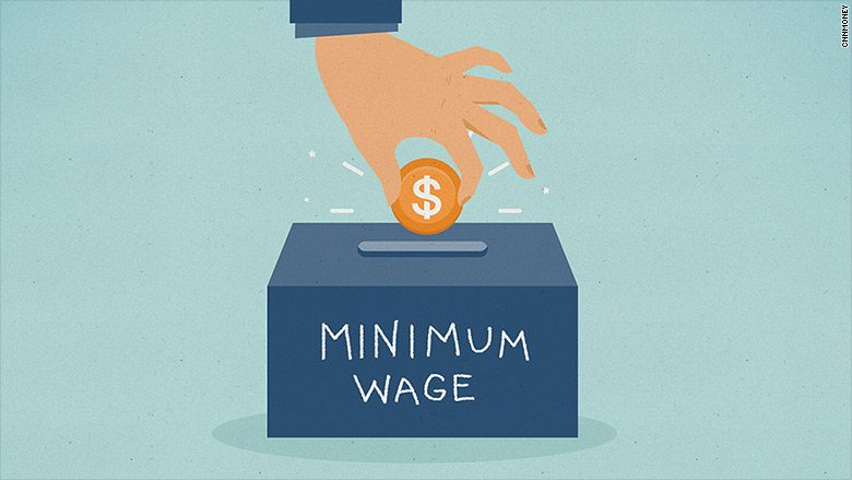 minimum wage illustration