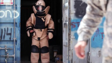 The bomb suit business is booming