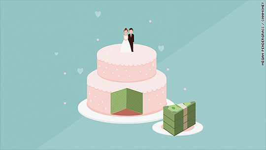 Couples are spending a record amount to get married