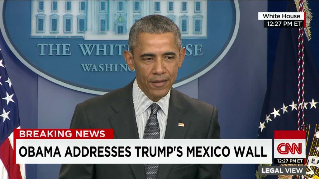 Obama on Trump's wall plan: Banning remittances is 'half-baked' idea