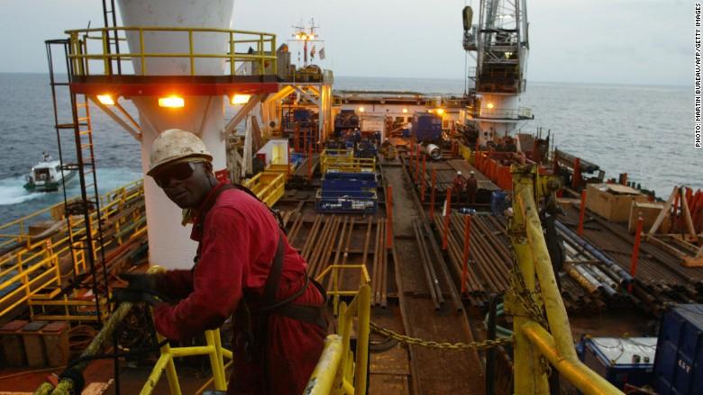 Angola oil platform