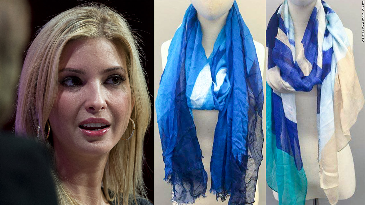 ivanka scarves made in china recalled