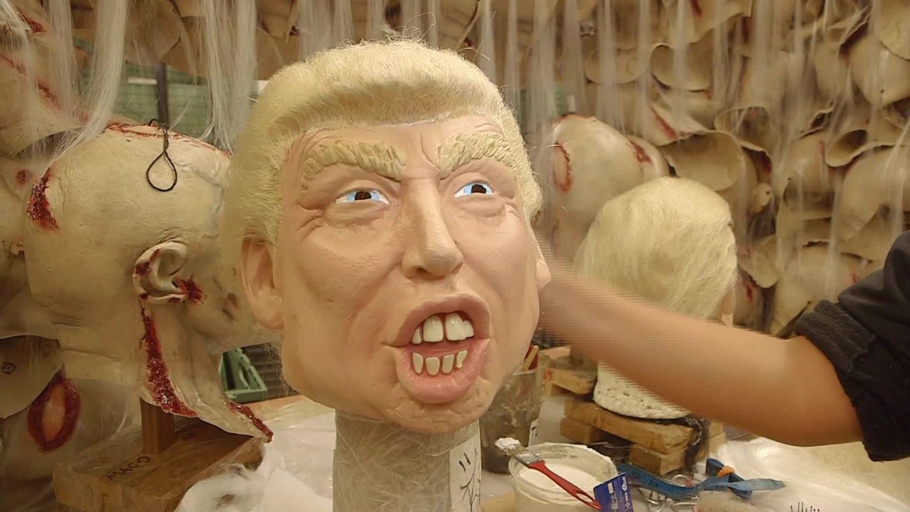 Mexican factory sees rise in demand for Trump masks - Video ...