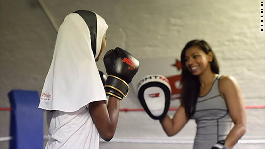 Muslim muay Thai fighter launches her own line of sports hijabs