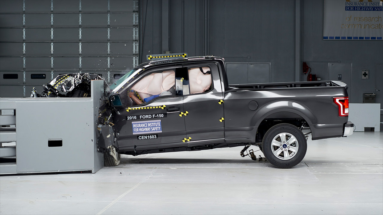 The ford f 150 earned a top safety pick in iihs crash tests but other pickup trucks didn t perform as well