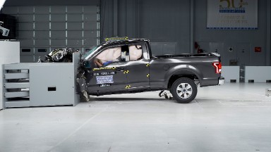 Which pickups performed best in IIHS crash tests?