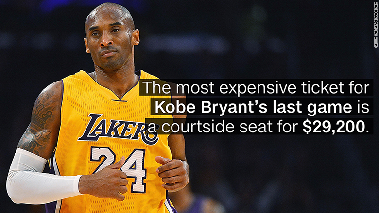 Want to see Kobe Bryant's last game? You'll need to pay at ...