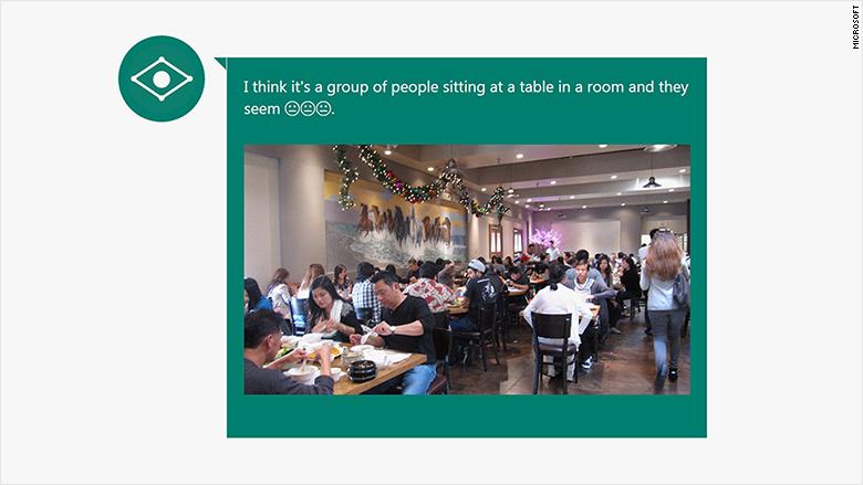 microsoft caption bot restaurant