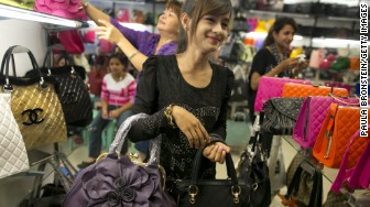 fake purses myanmar