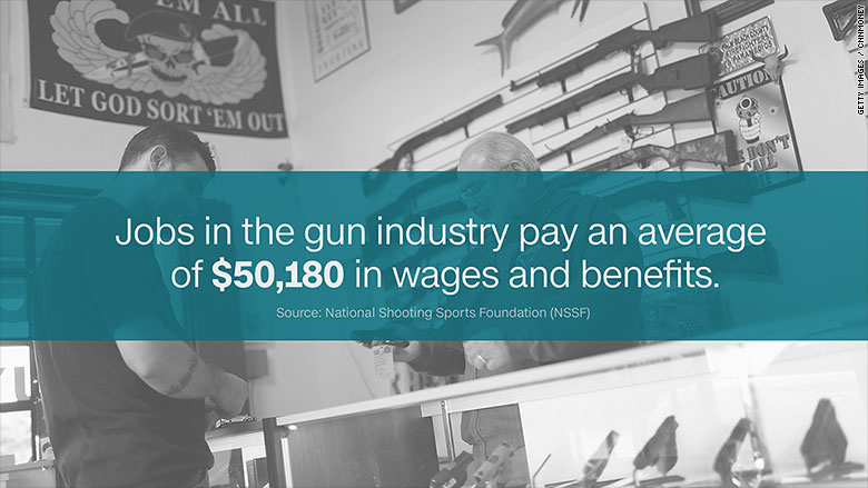 gun jobs wages