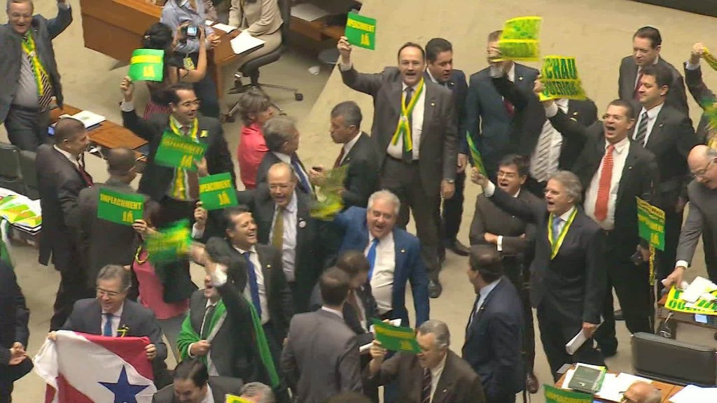 Brazil lawmakers vote to impeach President Rousseff