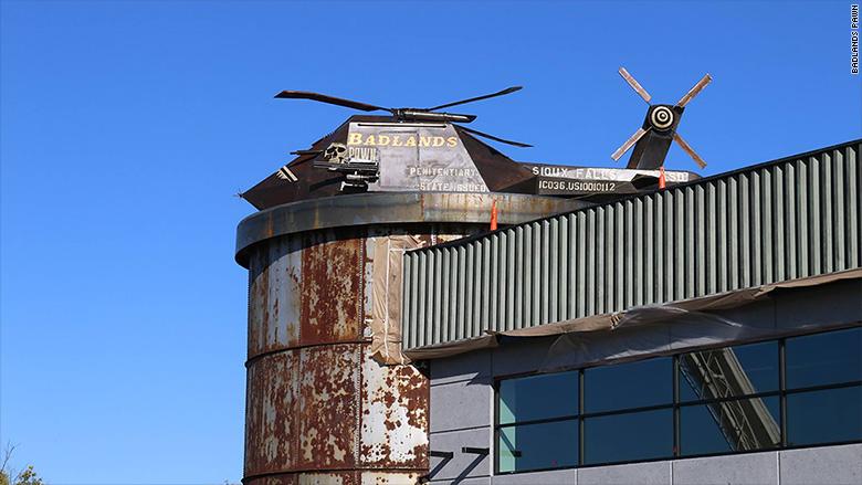badlands exterior helicopter