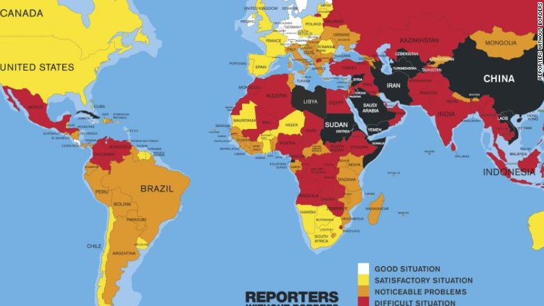 world press freedom index