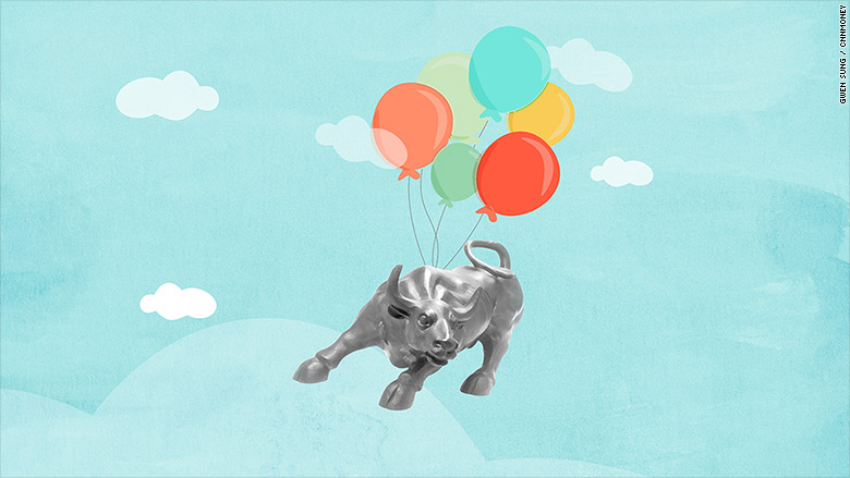 custom_market bull hot air balloon