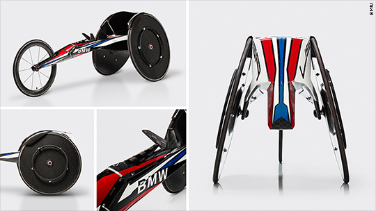 BMW is building tricked-out wheelchairs for the Paralympics