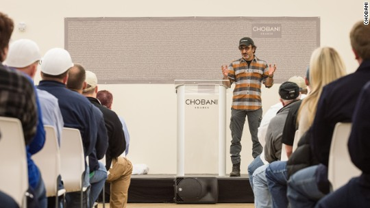 Chobani employees get a big surprise from their CEO