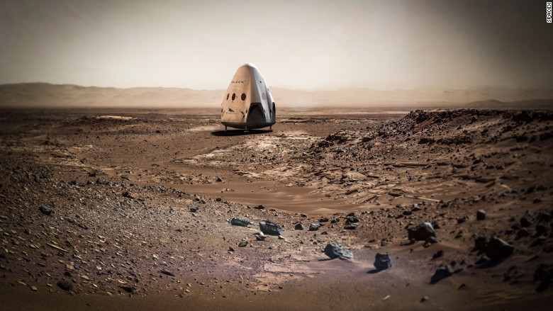 red dragon mars spacex