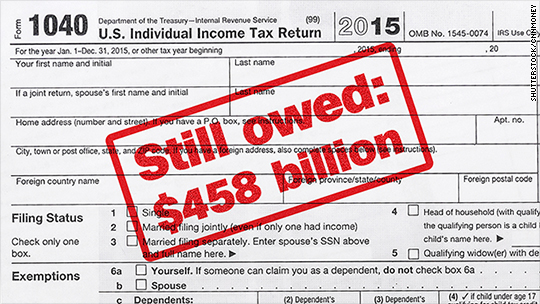 $458 billion in taxes go unpaid every year